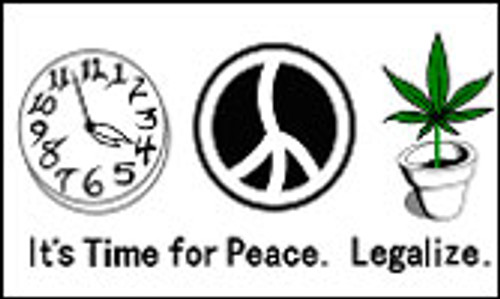 TIME FOR PEACE LEGALIZE 3X5' S-POLY FLAG