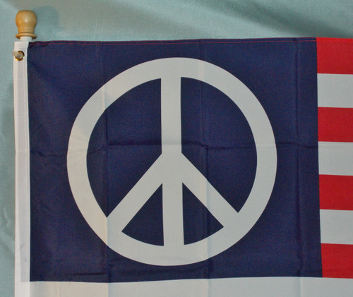 US PEACE SYMBOL 3X5' S-POLY FLAG