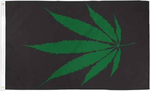 MARIJUANA LEAF 5X3' S-POLY FLAG
