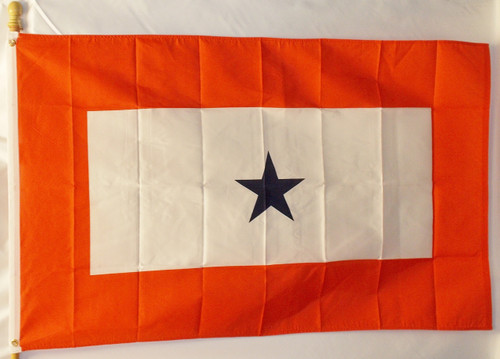SERVICE BLUE STAR 3X5' S-POLY FLAG