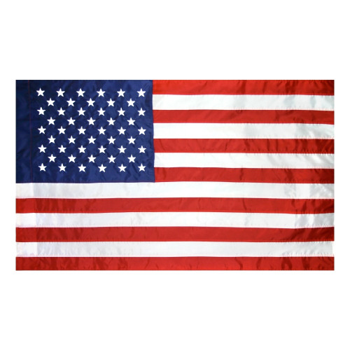 USA 2.5X4' POLE HEM BANNER NYLON FLAG