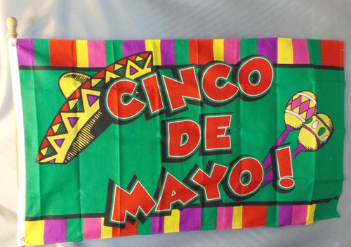 CINCO DE MAYO 3X5' S-POLY FLAG