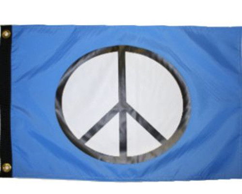 "PEACE BLUE 12X18"" BOAT FLAG"