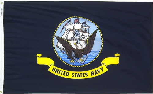 "ARMED FORCES NYLON FLAGS 5 BRANCHES 12X18"" TO 6X10'"
