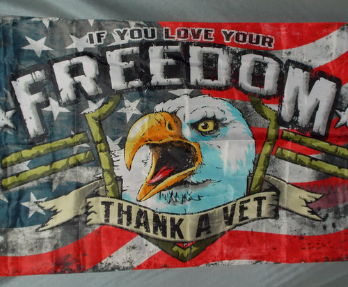 THANK A VET 3X5' POLY FLAG