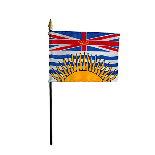 "BRITISH COLOMBIA 4X6"" TABLE TOP FLAG"