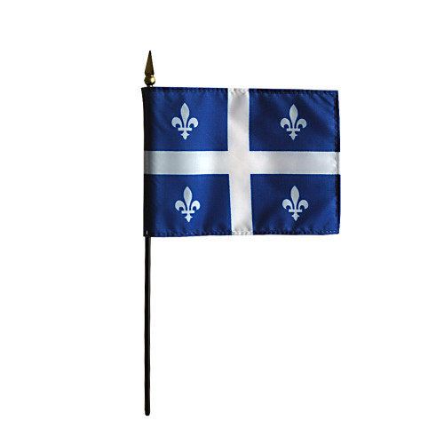 """QUEBEC 4X6"""" TABLE TOP FLAG"""