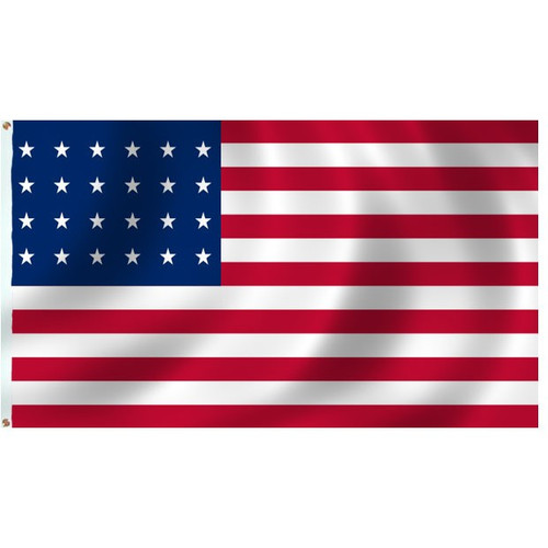24 STAR US 3X5' NYLON FLAG 1822-1836
