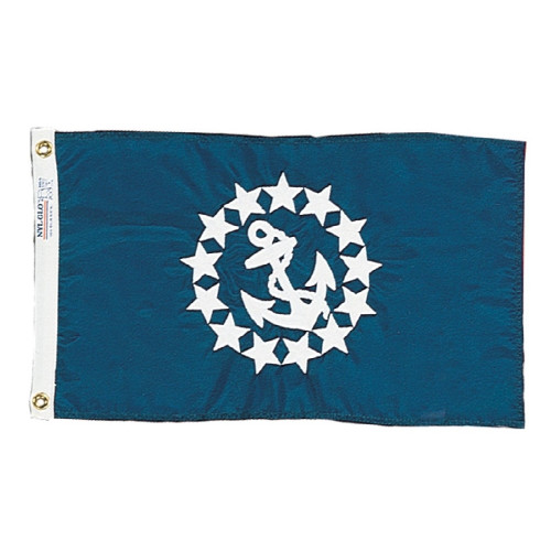 """COMMODORE OFFICERS NYLON FLAG 12X18"""""""