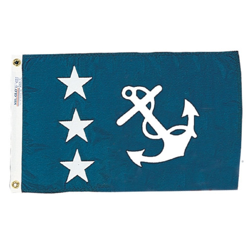 PAST COMMODORE OFFICERS NYLON FLAG 12X18""
