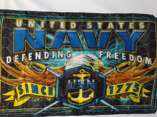US NAVY STRIKE FORCE 3X5' POLY FLAG