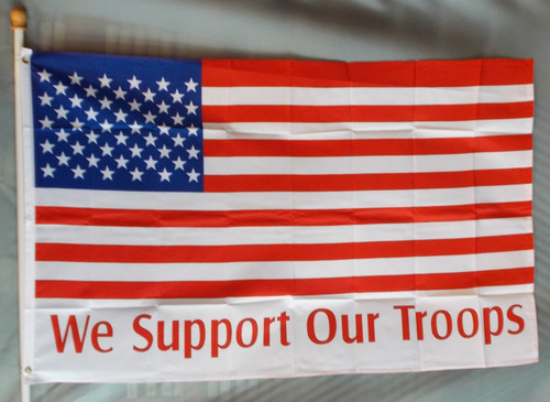 AMERICAN FLAG WE SUPPORT 3X5' S-POLY FLAG