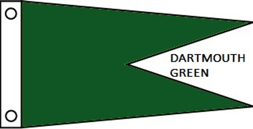 "SOLID COLOR ANGLE BURGEES NYLON FLAG 12X18"" TO 5X8'"