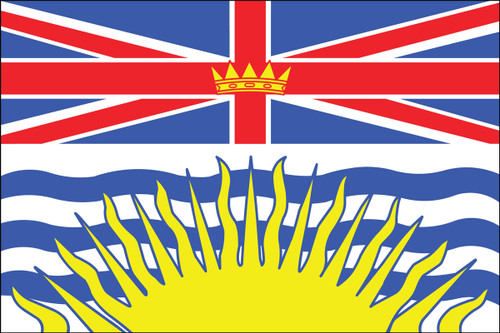 BRITISH COLOMBIA 3X5' NYLON FLAG