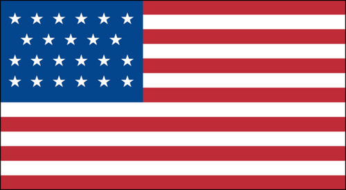 23 STAR US 3X5' NYLON FLAG 1820-1822