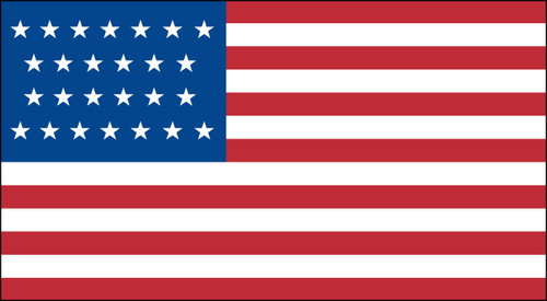 26 STAR US 3X5' NYLON FLAG 1837-1845