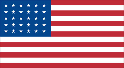 30 STAR US 3X5' NYLON FLAG 1848-1851