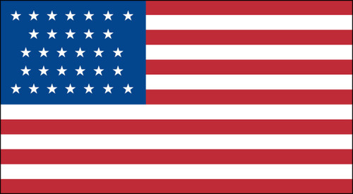 31 STAR US 3X5' NYLON FLAG 1851-1858