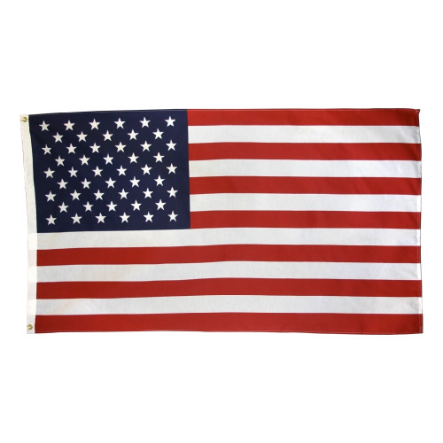 "USA DYED POLY/COTTON BLEND 3X5' FLAG ""Made in USA"""