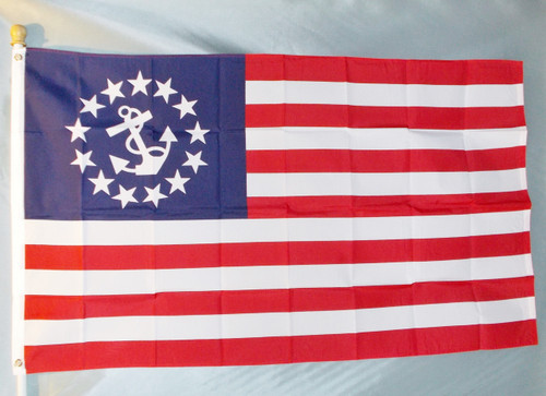 YACHT ENSIGN 3X5' S-POLY IMPORTED FLAG