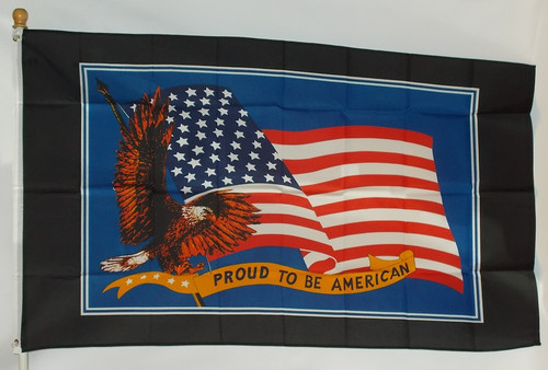 PROUD AMERICAN 3X5' S-POLY FLAG