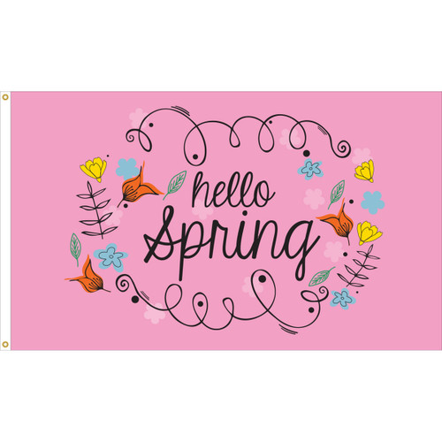 HELLO SPRING 3X5' NYLON FLAG