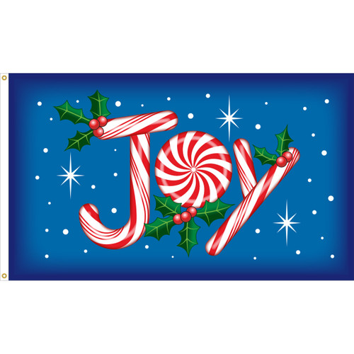 JOY CANDY CANE 3X5' NYLON FLAG