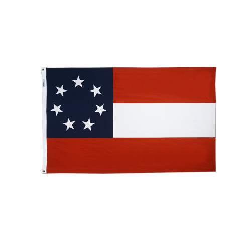 STARS AND BARS  3X5' BULLDOG COTTON FLAG