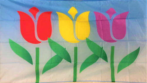 SPRING TULIPS 3X5' FLAG