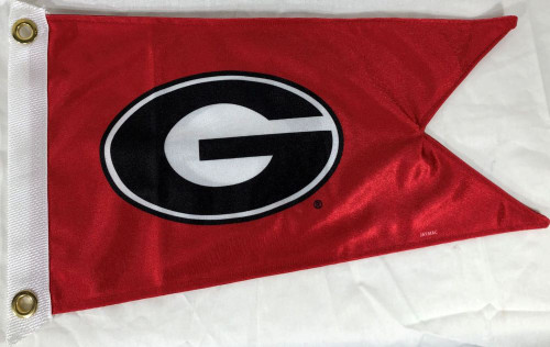 "University of Georgia 12x18"" Burgee Boat Flag NCAA UGA Bulldogs SEC"