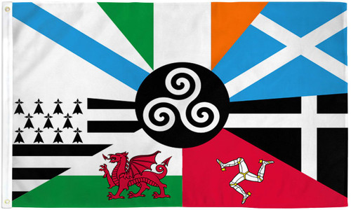 CELTIC NATIONS 3X5' POLY FLAG
