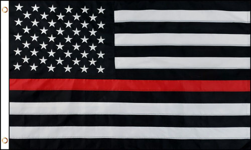 THIN RED LINE U.S. SEWN 3X5' NYLON FLAG