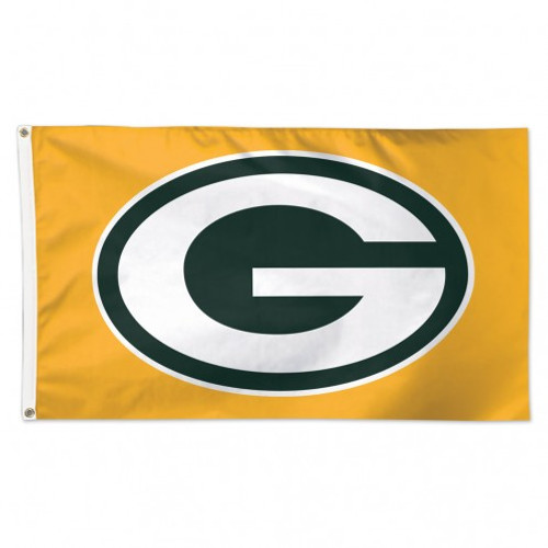 GREEN BAY PACKERS YELLOW DELUXE 3X5' FLAG