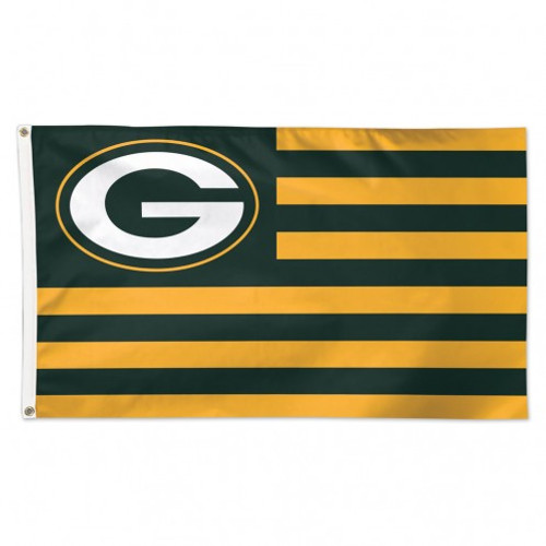 GREEN BAY PACKERS STRIPES DELUXE 3X5' FLAG