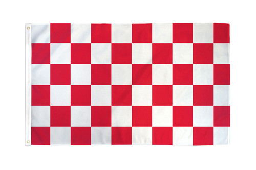 RED/WHITE CHECKERED 3X5' S-POLY FLAG
