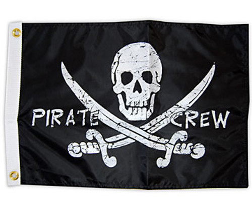 "PIRATE CREW 12X18"" BOAT FLAG"