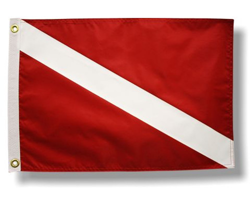 "DIVER DOWN 12X18"" BOAT FLAG"