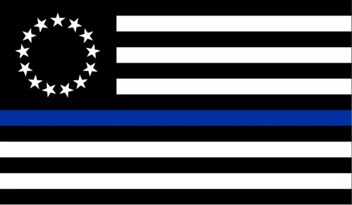 Betsy Ross Thin Blue line 3x5'