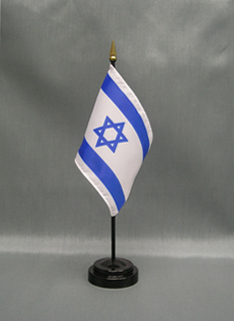 "ISRAEL 4X6"" TABLE TOP FLAG"