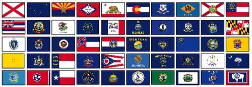 50 US STATES COMPLETE SET OF S-POLY FLAGS 3X5' IMPORTED  States Flags Pictures on