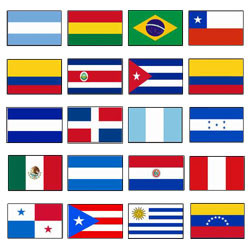 Latin American Flags Flags Unlimited Ltd