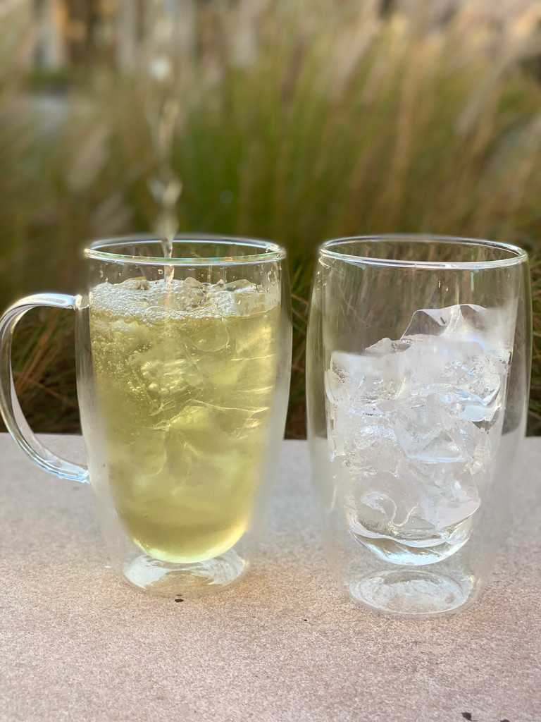 Double Wall Glass Cup (with handle)