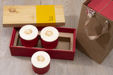 Bamboo Tea Box with 3 cans