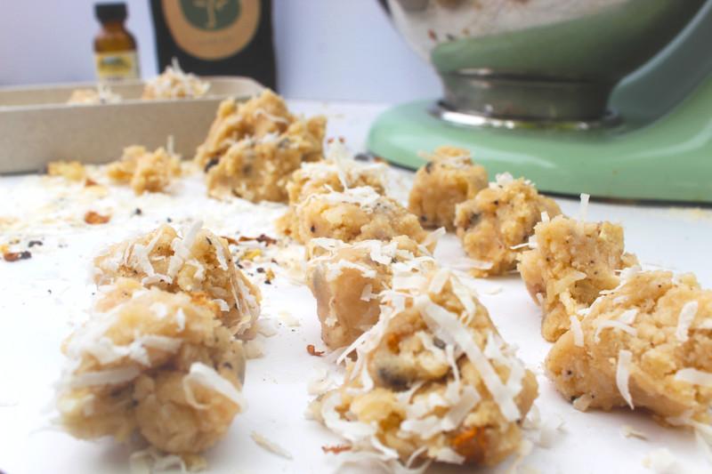 Gluten-Free, Low Sugar Coconut Macaroon Edible Cookie Dough Recipe