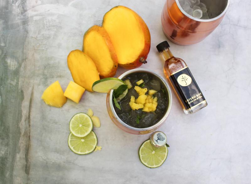 Mango Ginger Moscow Mule Mocktail