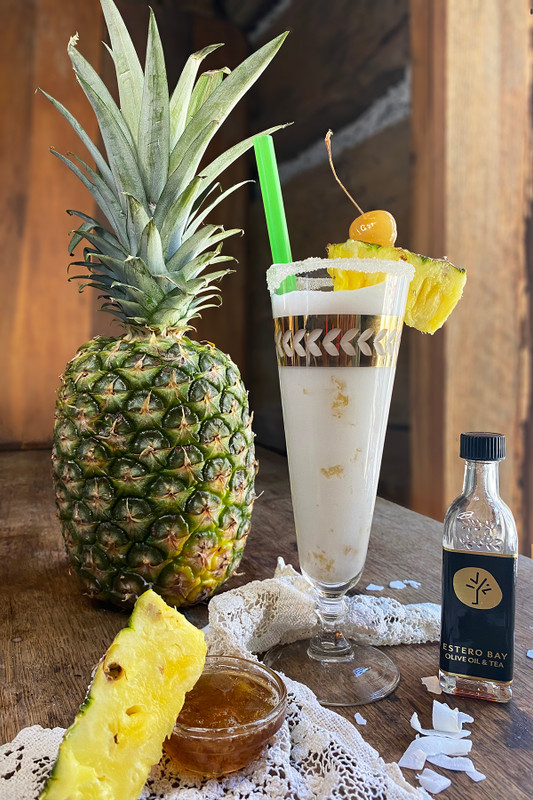 Pineapple Balsamic Piña Colada with Coconut Milk Mocktail Recipe