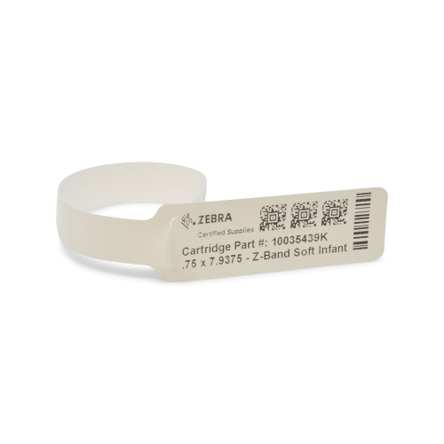 Zebra Z-Band Soft Infant Wristband (Cartridge) - 10035439K
