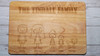 family figure chopping board with 5 names