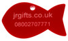 Fish Shaped Pet Tag red
