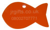 Fish Shaped Pet Tag orange